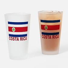 Costa Rica Flag Pint Glass