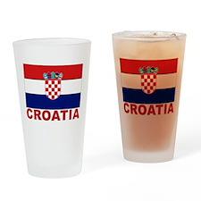 Croatia Flag Pint Glass