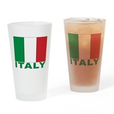 Italy Flag Drinking Glass