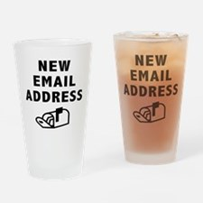 New Email Address Pint Glass