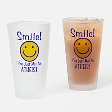 Atheist Smiley Pint Glass