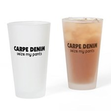 Carpe Denim Pint Glass