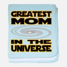 Greatest Mom in the Universe baby blanket