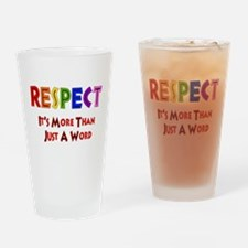 Rainbow Respect Saying Pint Glass
