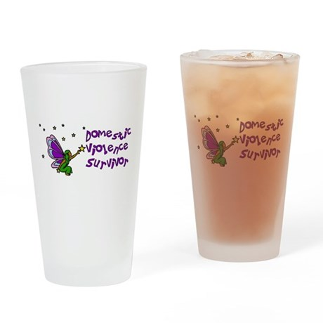 Domestic Abuse Angel Pint Glass