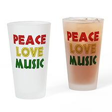 Peace Love Music Pint Glass