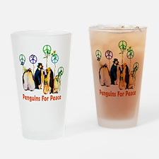Peace Penguins Pint Glass
