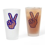 Patriotic Peace Sign Pint Glass