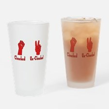 Clenched Fist Pint Glass