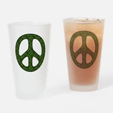Earth Day Peace Sign Pint Glass