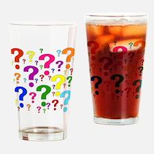 Rainbow Question Marks Pint Glass
