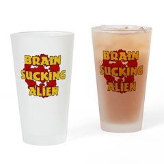 Brain Sucking Alien Pint Glass