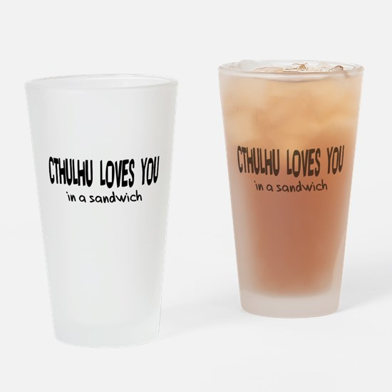 Cthulhu Loves You Pint Glass