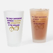 Atheist Quote Pint Glass