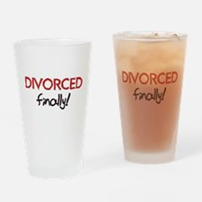 Divorced Finally Pint Glass