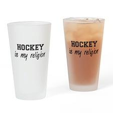 Hockey Is My Religion Pint Glass