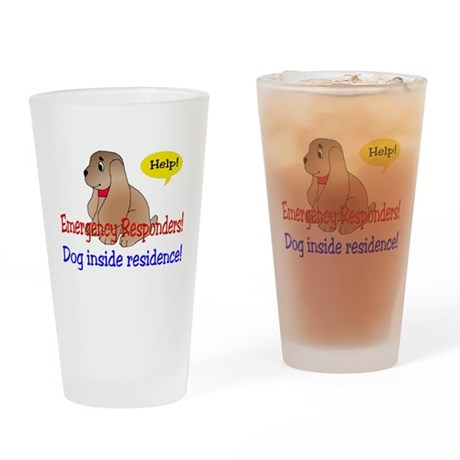 Single Dog Alert Pint Glass
