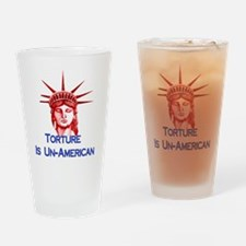 Torture Is Un-American Drinking Glass