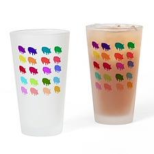 Rainbow Pigs Pint Glass