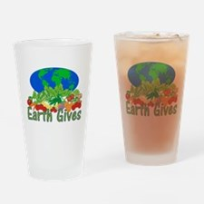 Earth Gives Drinking Glass