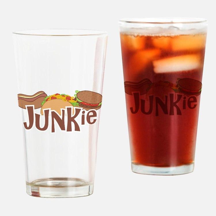 Fast Food Junkie Drinking Glass