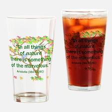 Aristotle Nature Drinking Glass