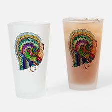 Patchwork Thanksgiving Turkey Drinking Glass