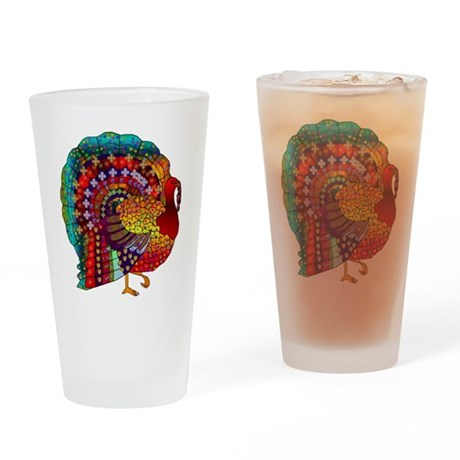 Thanksgiving Jeweled Turkey Drinking Glass