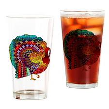 Thanksgiving Jeweled Turkey Drinking Glass