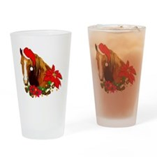 Christmas Horse Pint Glass