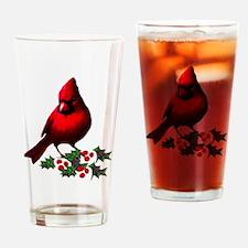 Christmas Cardinal Pint Glass