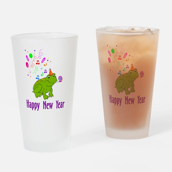 New Years Frog Pint Glass