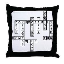 DOKUBO SCRABBLE-STYLE Throw Pillow
