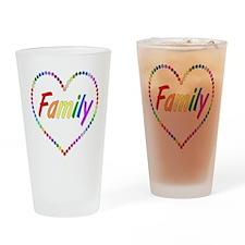 Rainbow Family Drinking Glass