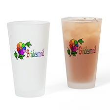 Rainbow Flower Bridesmaid Pint Glass