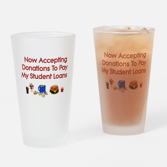 Student Loan Donations Pint Glass