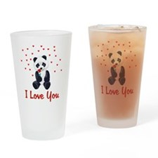 Panda Bear Valentine Pint Glass