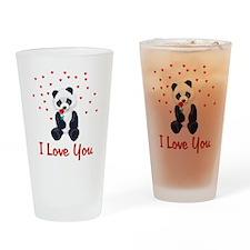Panda Bear Valentine Pint Glass