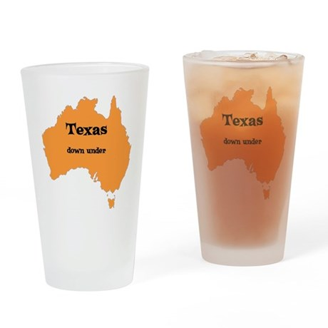 Texas down under Pint Glass