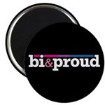 "Bi&proud Black 2.25"" Magnet (100 pack)"