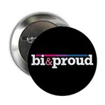 "Bi&proud Black 2.25"" Button (100 pack)"