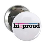 "Bi&proud White 2.25"" Button (10 pack)"