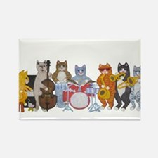 Salsa Cats Rectangle Magnet