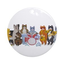 Salsa Cats Ornament (Round)