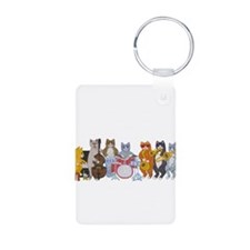 Salsa Cats Aluminum Photo Keychain