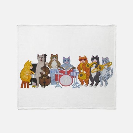 Salsa Cats Throw Blanket