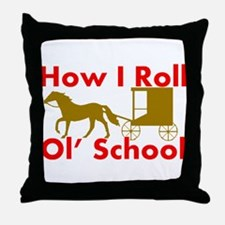 Amish Rolling Throw Pillow