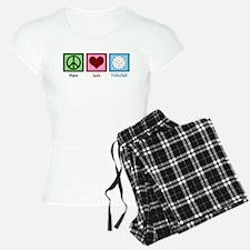 Peace Love Volleyball Pajamas