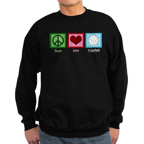 Peace Love Volleyball Sweatshirt (dark)