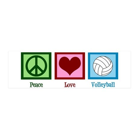 Peace Love Volleyball 20x6 Wall Decal